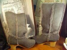 Jeffery Campbell ~The Polar Boot~ Gray Suede Leather Women's sz 10 NIB
