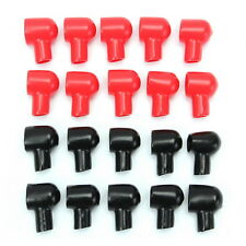 20Pcs Round Black Red Battery Terminal Boots Insulating Covers Tool 20x12mm