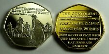 Pair of SUFFRAGETTE EMILY DAVISON KILLED 1913 NEWSPAPER Collectors Tokens/Medals