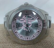 Women's Marc Ecko Stainless Steel & Pink Swarovski Crystal Iced Dial Wrist Watch