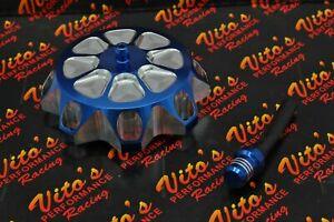 Vito's aluminum GAS CAP Yamaha Banshee YFZ450 Raptor 660 Warrior Blaster BLUE