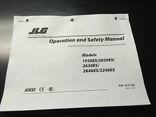 jlg heavy equipment manuals books for scissor lift jlg 1930 es 2030es 2630es scissor lift operation safety manual instructions