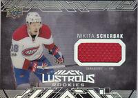 17-18 UD Black Nikita Scherbak Jersey Lustrous Rookie Canadiens 2017