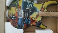STAN LEE SIGNED AVENGERS FULL SIZE PEAVEY ROCKMASTER GUITAR COA NEW END GAME