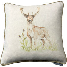 Fawn Deer Cushion Cover | Country Collection Voyage Style | Linen Wool Piped