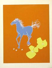 Robert Sargent Untitled Signed & Numbered Art Serigraph, blue horse, MAKE OFFER