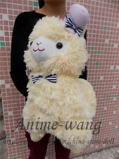 "Japan Amuse Arpakasso Alpacasso Alpaca Yellow 14"" Plush Toy With Hat Adorable"