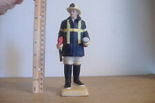 ~FIREMAN WITH AX AND FLASHLIGHT~ENESCO PORCELAIN FIGURINE~