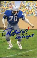 Rayfield Wright Signed Jsa Glac Goal Line Card Certed Autograph