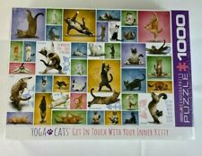 "EUROGRAPHICS 1000 Piece Jigsaw Puzzle ""YOGA CATS"" 19.25"" X 26.5"" High Quality"
