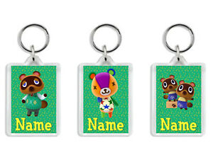 Personalised Animal Crossing Character Keyring / Bag Tag - Add any name or text