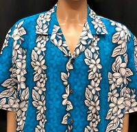 Aloha Republic Hawaiian Shirt Mens 2XL Tropical Floral Flowers Made In USA XXL