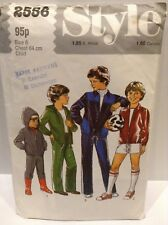 SEWING PATTERN STYLE 2556 TRACKSUIT JACKET & JOGGERS/SHORTS HOODIE SIZE 6YRS