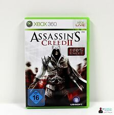 360 Xbox juego-figuras assassins creed II 2-completamente en funda OVP