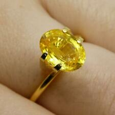 2.03 CT Oval Amarillo Zafiro