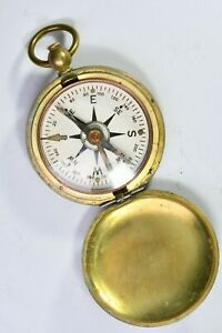 WWII US Army Corp of Engineers USCE Taylor Brass field Pocket Compass 99c NR