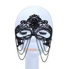 Queen Black Lace Mask Sex Appeal Halloween Party Nightclub Stretch EyeMask Decor
