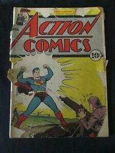 Action Comics No.35: Superman Ungraded April 1941