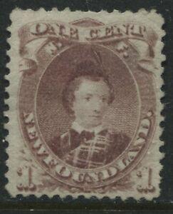 Newfoundland 1868 1 cent Prince Albert brown lilac mint o.g.