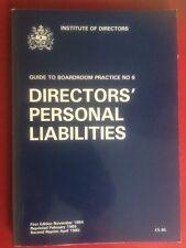 Directors Personal Liabilities- Institute Of Directors