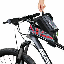 """RockBros Bike Frame Bag 6.0"""" Touch Screen Waterproof Front Tube Cycling Bag Red"""