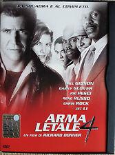 DVD • Arma Letale 4 no 1 2 3 MEL GIBSON JET LI AZIONE ITALIANO
