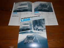 1970's LADA VAZ RUSSIAN SEDAN, WAGON & CROSS COUNTRY ORIGINAL BROCHURE / CATALOG