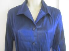 Ladies size 10 Holmewood midnight blue light catching blouse top long sleeves