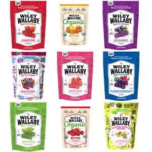 Wiley Wallaby Australian Style Gourmet Licorice or Organic Bites (Choose Type)