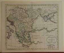 GREECE HUNGARY MACEDONIA BALKAN COUNTRIES 1798 JOHN RUSSELL ANTIQUE ENGRAVED MAP