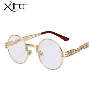 Gothic Steampunk Sunglasses Metal Eyeglasses Round Shades Sun glasses UV400 2019
