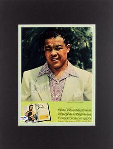 Joe Louis Authentic Signed Matted Magazine Page Autographed PSA/DNA #U01853