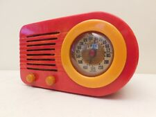 VINTAGE KRIS GIMMY RED FADA BULLET ART DECO CATALIN BAKELITE ANTIQUE TUBE RADIO