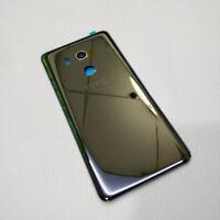 ORIGINAL HTC U11 EYES REAR BATTERY BACK DOOR GLASS COVER HOUSING ADHESIVE BLACK