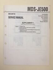 Sony MDS-JE500 Service Manual (supplement 1)