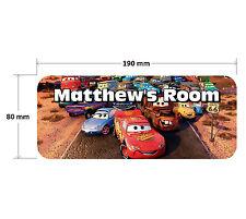 Cars Door Plaque 2 - Lightning McQueen Personalised Childrens Bedroom Sign Boys