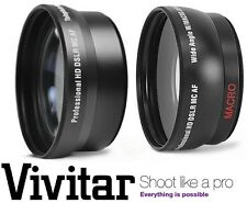HD 2PC LENS SET WIDE ANGLE & TELEPHOTO LENS for FUJIFILM FINEPIX HS30EXR HS33EXR