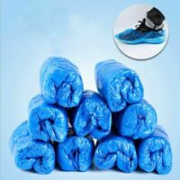 Blue Disposable Shoe Covers Anti Slip Plastic Cleaning Overshoes Cleaning Boot