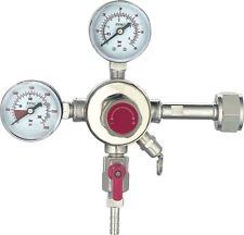HFS Commercial Co2 Regulator - Beer Brewing Kegerator Dual Gauge Shutoff Valve