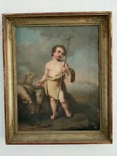 Huile Sur Toile - Saint Jean Baptiste Enfant