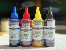Confezione da 4 BOTTIGLIE 100ml Colore Inchiostro Stampante EPSON INCHIOSTRO DYE Sublimazione Trasferimento di Calore
