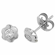 Unbranded Round Cubic Zirconia Stud Fine Earrings