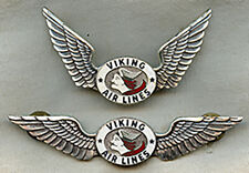 Stunning and Minty Ca 1950 Viking Air Lines Pilot Wing & Hat Badge