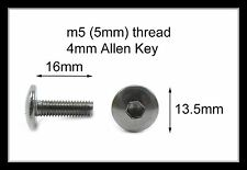 Honda Stainless Motorcycle Fairing Pan Head Allen Key Bolts m5 x 16mm - 10 Pack