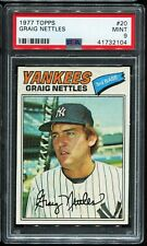 1977 Topps Baseball #20 GRAIG NETTLES New York Yankees PSA 9 MINT