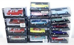 NEW RAY ~ 1:43 Scale Die Cast ~ Lot of 14 MISC. VINTAGE CARS ~ S11