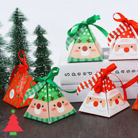 5/10PCS Creative Merry Christmas Candy Box Bag Christmas Tree Box Paper Gift
