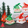 5/10PCS Creative Merry Christmas Candy Box Bag Christmas Tree Box Paper Gift