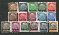 German Third Reich Stamps --  Hindenburg - Luxemburg Overprint - Mint-Hinged