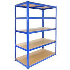 Estantería para Garaje T-Rax de Acero Inoxidable Azul 5 Estantes 120cm x 60cm